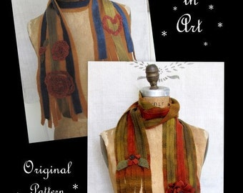 Wrapped in Art E-PATTERN for Wool Scarf by cheswickcompany