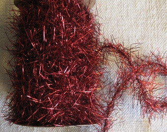 Spool of Red TINSEL Trim Garland  cheswickcompany