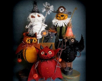 Trick or Treaters Group 2 E-PATTERN for Halloween by cheswickcompany