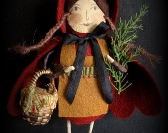 Red Riding Hood  E-PATTERN  3rd in the Storybook Ornament Collection by cheswickcompany
