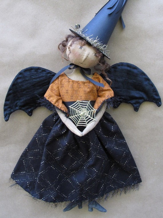 Bewitched Halloween Angel PRINTED PATTERN by cheswickcompany