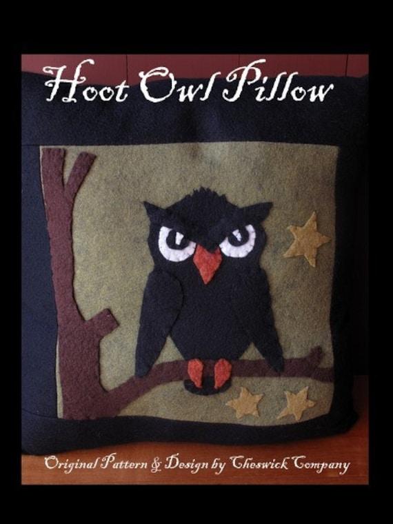 Hoot Owl Pillow PRINTED PATTERN by cheswickcompany