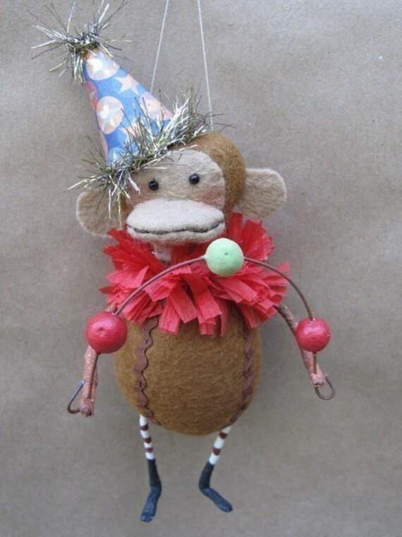 Marcel the Circus Monkey Ornament KIT by cheswickcompany