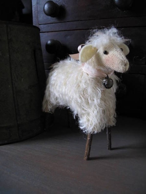 Spring Mohair Lamb KIT by cheswickcompany Inspired by Antique German Sheep