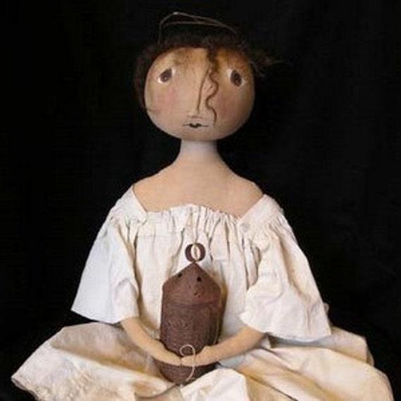 Primitive Folk Art HANNAH Doll E PATTERN by cheswickcompany