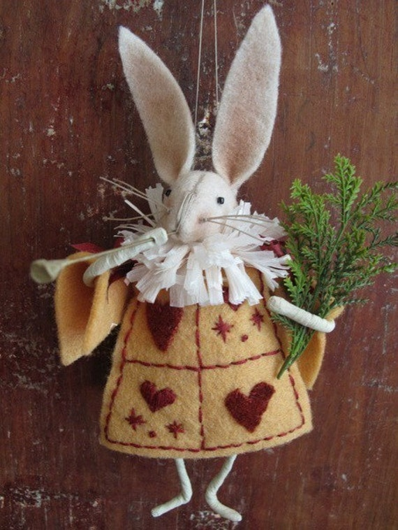 KIT White Rabbit Ornament Alice in Wonderland by cheswickcompany