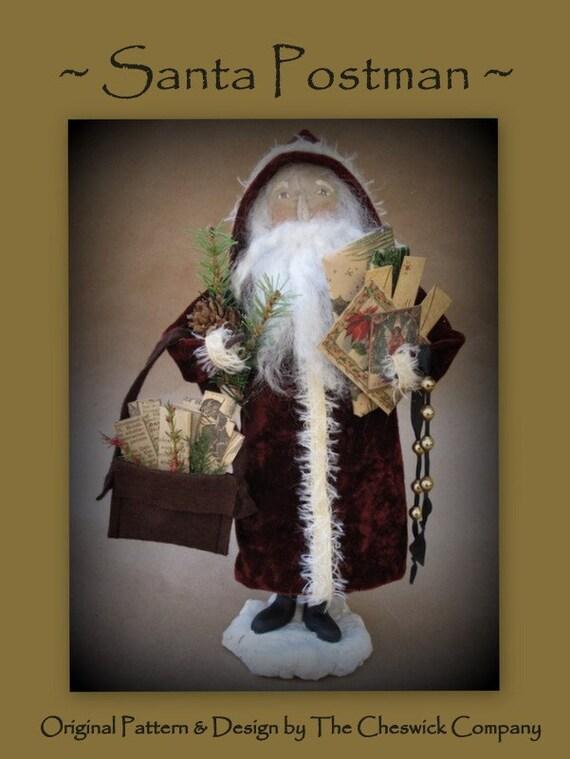 Christmas Santa Postman E-PATTERN by cheswickcompany