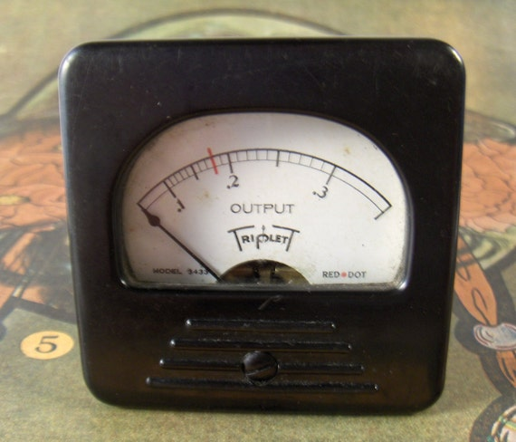 Vintage Meter Gauge Industrial Scientific Part Triplett from Converged Commodities vestiesteam thebestvintage