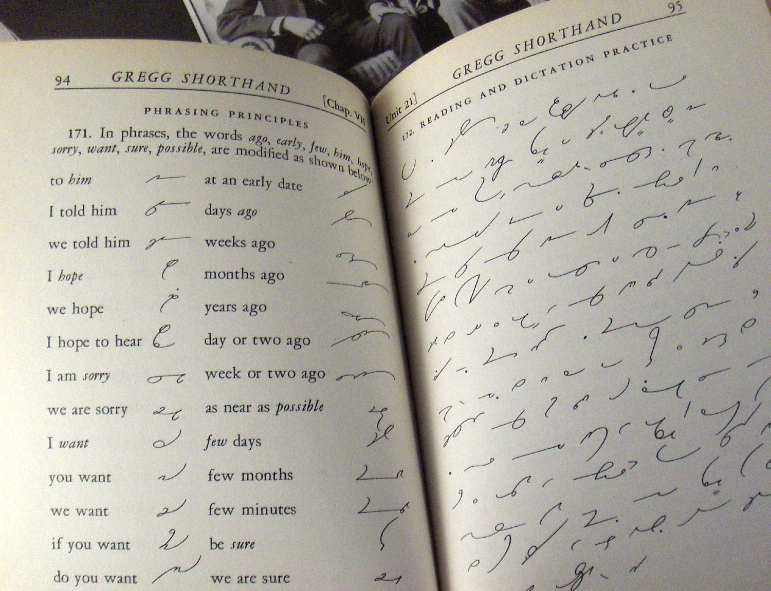 Vintage Book Gregg Shorthand Anniversary Edition 1943