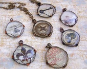 Personalized Necklace -  Wire Wrapped Glass Pendant with Your Custom Image on a chain