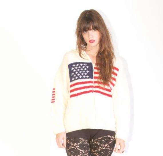 American flag sweater cardigan