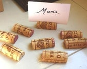 CLEARANCE Wine Cork Place Card Holders