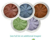 Mineral Eyeshadow FIVE full size 5 gr jars Pick any 5