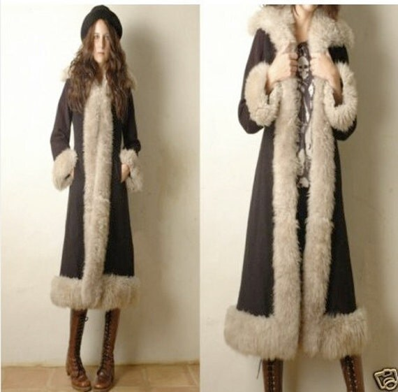 Vintage Shearling Coat | Down Coat