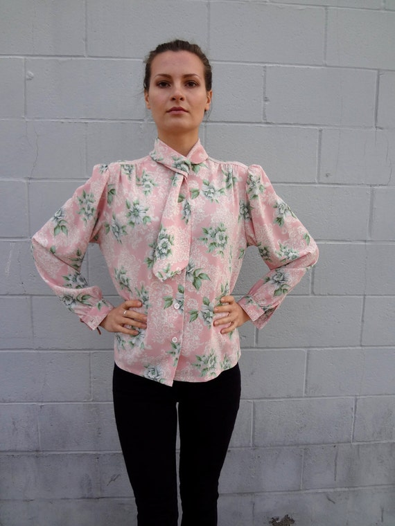 Rococo Floral Print Blouse