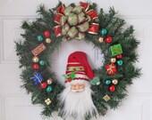 HO HO HO - Santa Wreath
