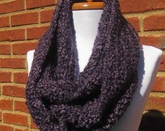 A Beautiful deep  purple and light purple mix Scarf cowl neckwrap neck warmer