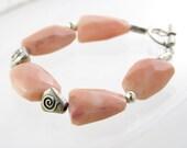 bracelet gemstones free shipping sterling silver and peach aventurine healing stones bold statement