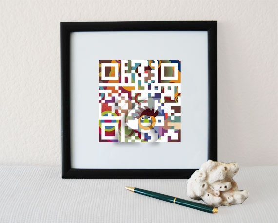 """February birthday gifts for men, dad, father - """"You're the BEST DAD ever""""- QR code square home wall art print - Father's Day gift"""