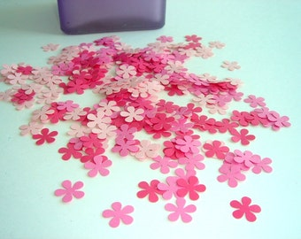 100 Pieces - Pretty Petals Hand Punched Confetti - Perfect for Weddings, Showers and Anniversaries available in your choice of colors