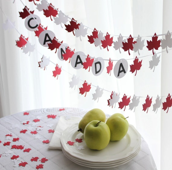 Canada Day Red and White Maple Leaf Party Pack