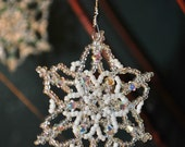 Clear Aurora Borealis Snowflake