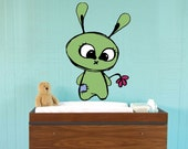Wall decals GREEN BUNNY Decor stickers for walls - doors - furniture by Decals Murals