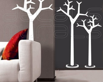 Wall decals SWEDISH COAT RACK Trees Vinyl artwork stickers interior decor by Decals Murals