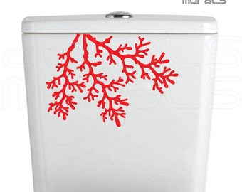 Wall decal CORAL REEF BRANCHES Vinyl art stickers Bathroom decor by Decals Murals