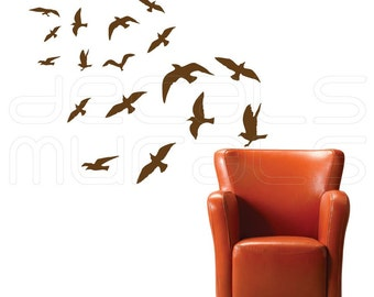 Wall decal FLOCK OF BIRDS Vinyl art decor - Wall stickers by Decals Murals