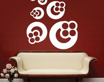 Wall Decals HONEYCOMB CIRCLE SHAPES Vinyl art wall stickers decor by Decals Murals