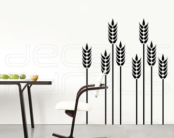 Wall decals WHEAT GRASS Vinyl art stickers decor for walls by Decals Murals