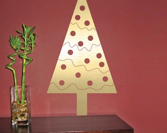 Wall Decal GEOMETRIC CHRISTMAS TREE holiday wall decor by Decals Murals Small