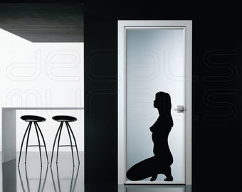 Wall decal SITTING WOMAN SILHOUETTE Vinyl art stickers interior decor art by Decals Murals