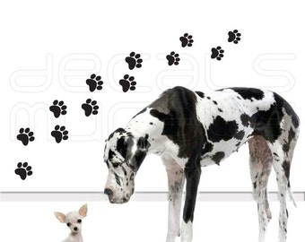 Wall Decals DOG PAW PRINTS Vinyl stickers art decal decor by Decals Murals