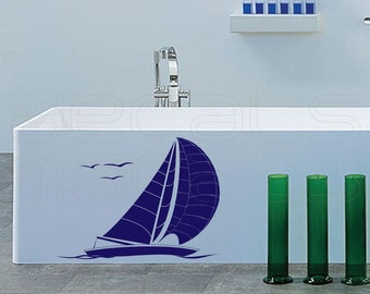 Wall decals YACHT SAILBOAT wall art stickers by Decals Murals 22x28