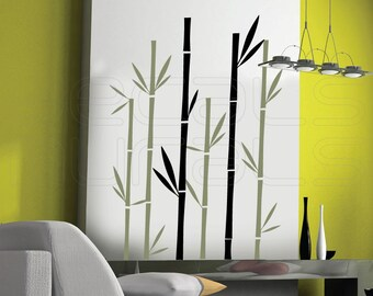 Wall decals GEOMETRIC BAMBOO Vinyl art stickers - Interior decor by Decals Murals