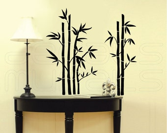 Wall decals BAMBOO Modern wall stickers - Vinyl art decor by Decals Murals (28x28)