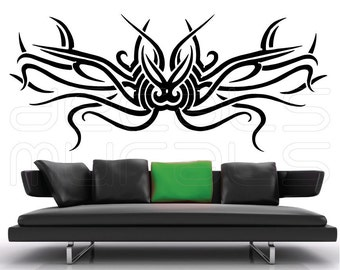 Wall decal TRIBAL OCTOPUS wall tattoo Vinyl stickers decor by Decals Murals (Large)