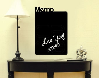 Chalkboard MEMO Writable wall decals - Interior decor surface graphics by Decals Murals (14x22)