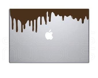 Laptop decals DRIPPING CHOCOLATE Vinyl surface graphics - Macbook skin by Decals Murals