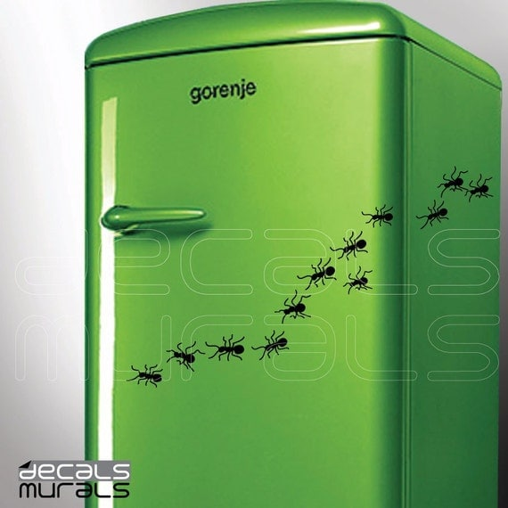 Wall decals ANTS Fun vinyl art stickers - Removable decal decor by DECALS MURALS