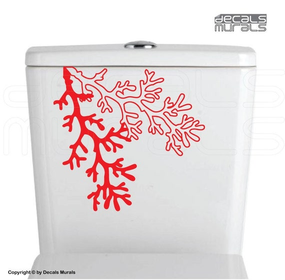 coral reef branch decals vinyl art decor stickers bathroom