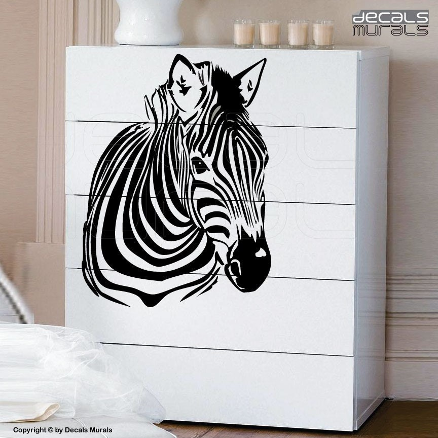 Wall decals ZEBRA Vinyl wall art interior decor stickers by