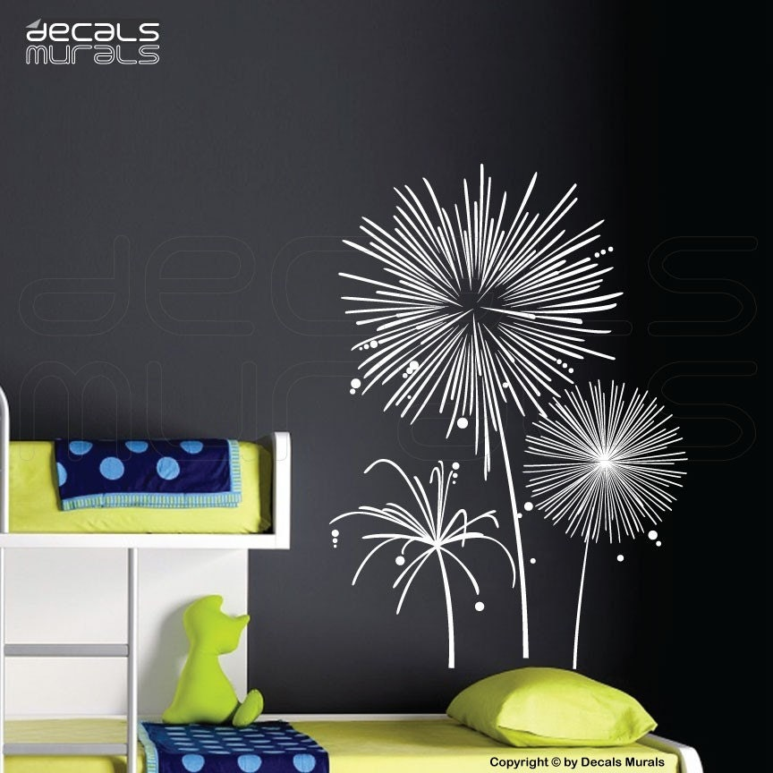 Wall Decals Fireworks Vinyl Art Stickers Wall Graphics For