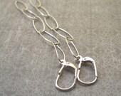 Sale - Sterling Silver Oblong Links Earrings (50% OFF)