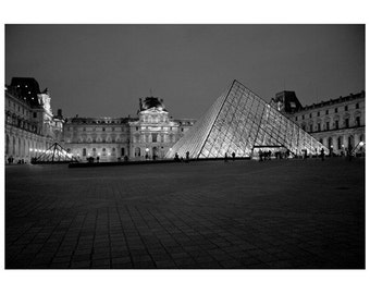 8x10 Print - Night at the Louvre