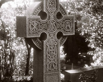 8x10 Print - High Cross in Black and White