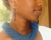 BlueChunky Crochet Rope Necklace