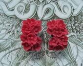 Fuchsia Bouquet 0g Earrings